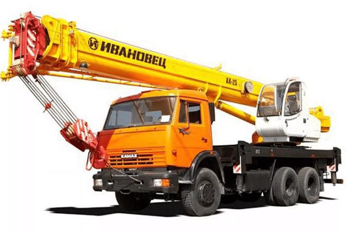 Автокран Ивановец 25 тонн, стрела 28 м