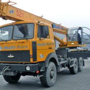 Автокран Ивановец 32 тонны, стрела 20 м + гусёк
