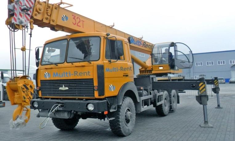 Автокран Ивановец 32 тонны, стрела 27.5 м + гусёк без передвижения